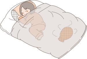 寝る時の状態を再点検、衣服や寝具や風通しは?