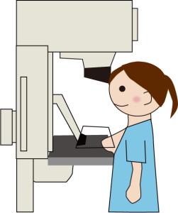 マンモグラフィーでの乳がん検査はX線を使うので授乳中には不向き