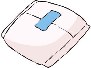 ナプキンの使用にはかぶれやムレの予防が必要
