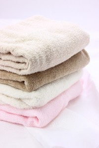 タオルを使って向き癖予防!