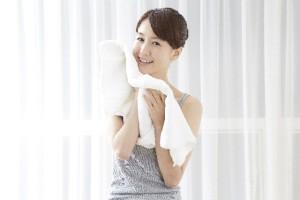 タオルで拭くときもこすらず、水分を抑えるように