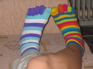 できれば5本指靴下を履いて