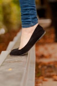 ゆったりとした靴