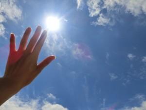 日光を浴びる!!