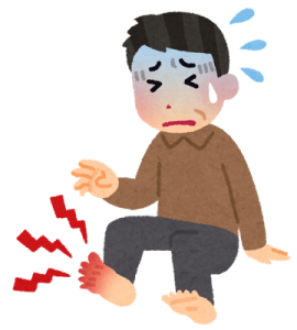足の親指の付け根が痛い場合は痛風の可能性