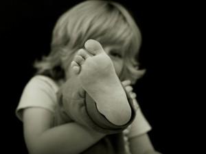 子供の場合、小さいうちはほとんどが偏平足です