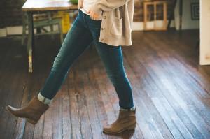 ブーツをはいても足が太くならない方法