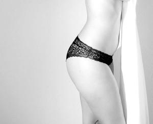お尻のラインや太もものラインがとても綺麗に