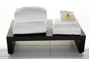 入浴前に冷たい水で絞ったタオルを準備!